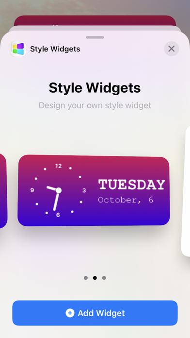 Style Widgets